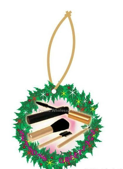 Makeup Brushes Executive Line Wreath Ornament (4 Square Inch)