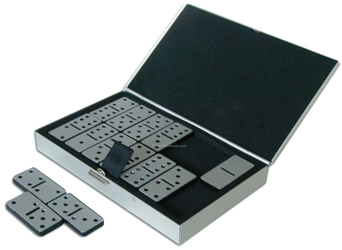 Metal Travel Domino Set W/ Case
