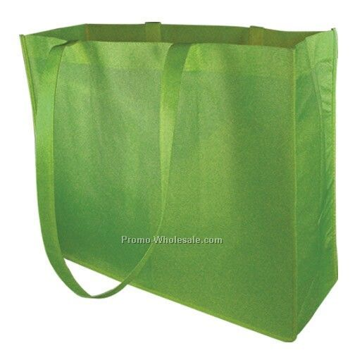 Non Woven Carry All Tote - Lime Green