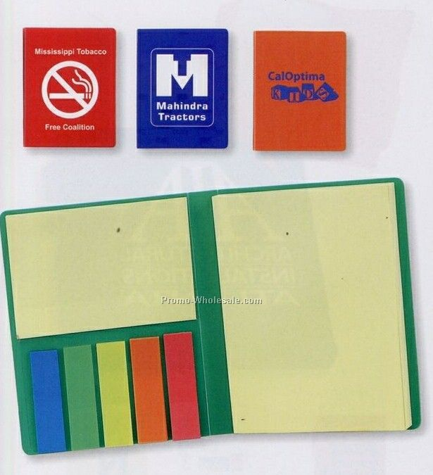 Notebook With Highlighter Flags (Standard Shipping)