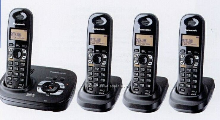 Panasonic 5.8 Ghz Digital Fhss Phone W/ 4 Handsets
