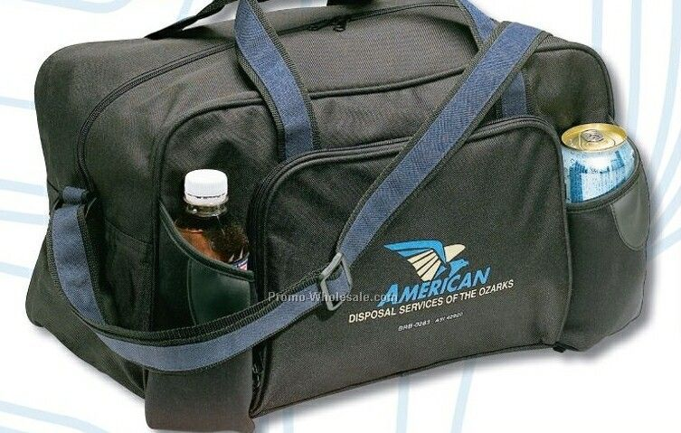 Polyester Sport Bag W/ 2 Neoprene Bottle Pockets