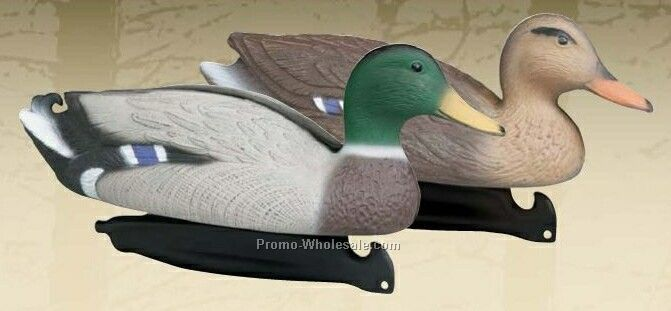 Super Magnum Mallard Duck Decoy W/ Weighted Keel - 3 Drake & 3 Hen