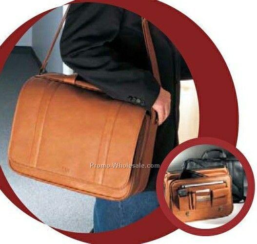 Vaqueta Napa Leather Statesman Laptop Briefcase