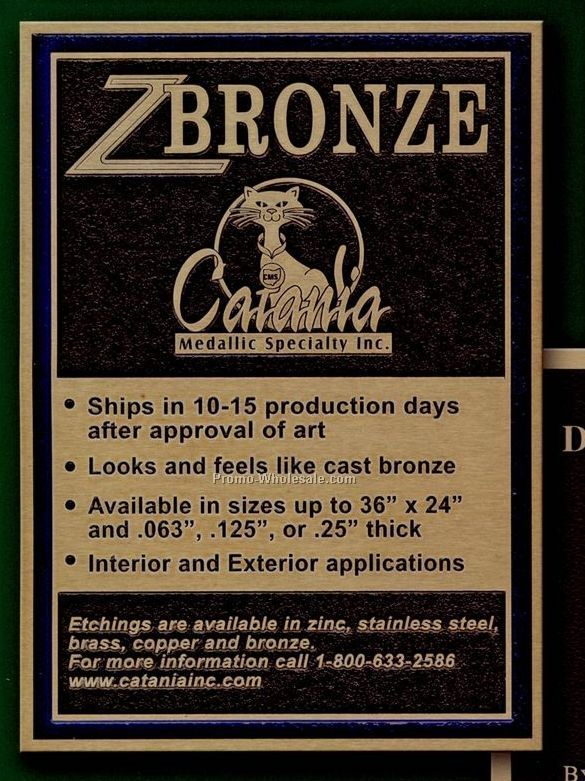 "1/8"" Custom Z Bronze Plaques - (Under 25"")"