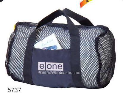 "16""x10""x8"" Nylon Mesh See Through Duffel Bag"