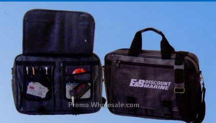 "16""x12""x4"" Leatherette Expandable Briefcase (Screened)"