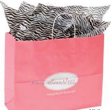 """16""""x6""""x12"""" Soft Calendared Colors Shopping Bags"""