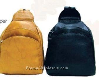 22cmx34cmx9cm Multi Color Tear Drop Knapsack With 2 Front & 1 Side Zipper