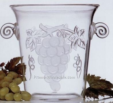 3-1/2 Qt. Champagne & Wine Bucket With Embossed Grapes (Tulip Shaped)