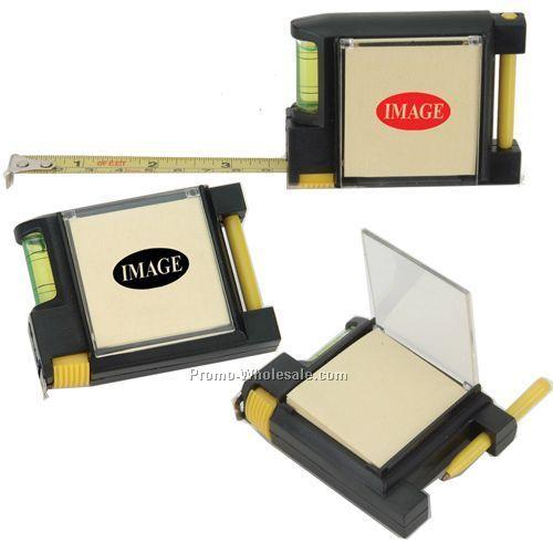 "3-1/8""x2-1/2"" Tape Measure W/ Note Pad/Leveler & Pen"