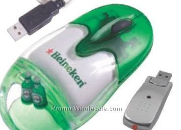 """4-1/2""""x2-3/8""""x1-3/8"""" Liquid Filled 2.4G Wireless optic Mouse"""