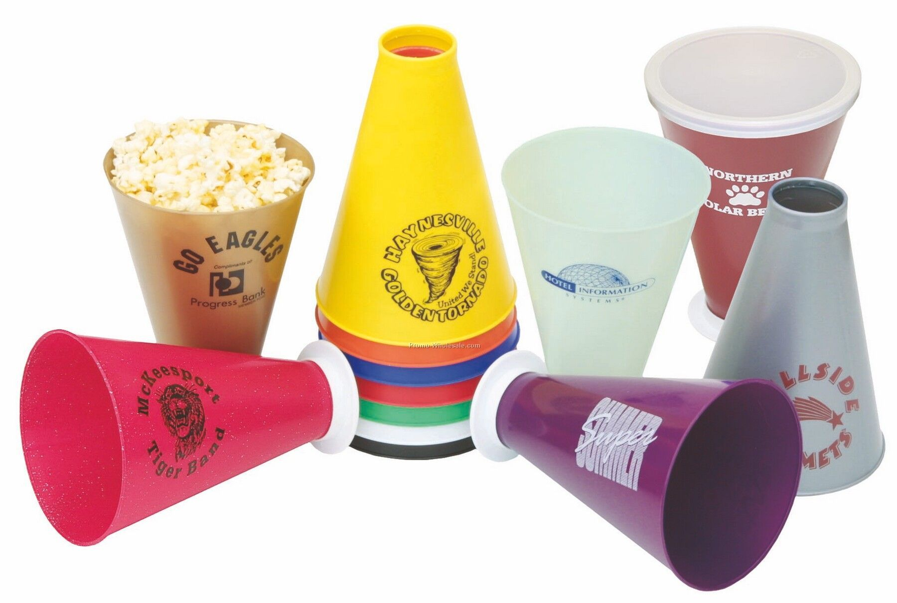 "7-1/2"" Metallic Megaphone (1 Color/ 2 Side)"