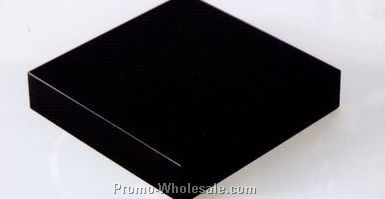 "Black Crystal Base (4""x4""x3/4"")"