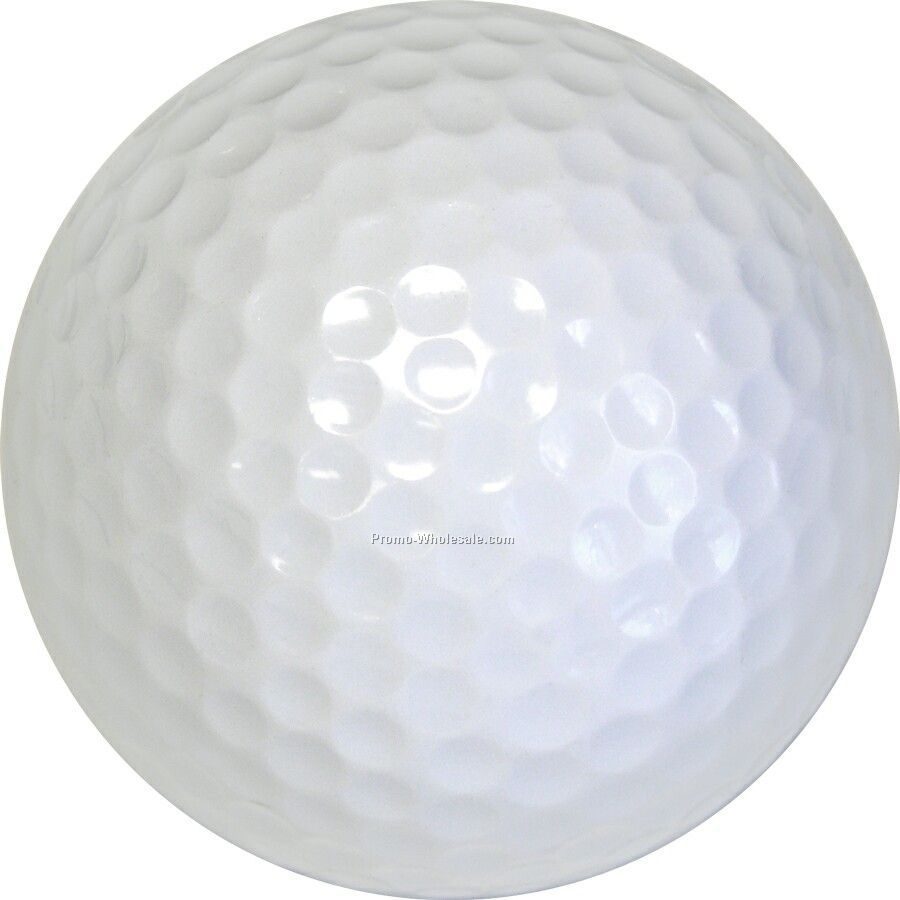 Golf Balls - White - Custom Printed - 1 Color - Clear 3 Ball Sleeves