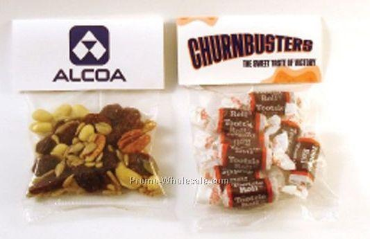 Header Card Packs Clear Cello Bag W/ 1 Oz. Caramels