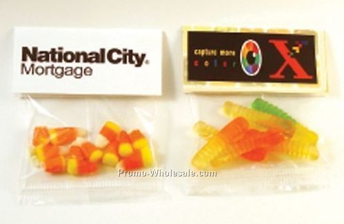 Header Card Packs Clear Cello Bag W/ 2 Oz. Fruit Runts