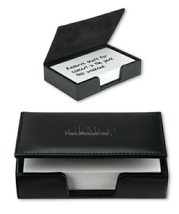 Insight Leather Memo Box