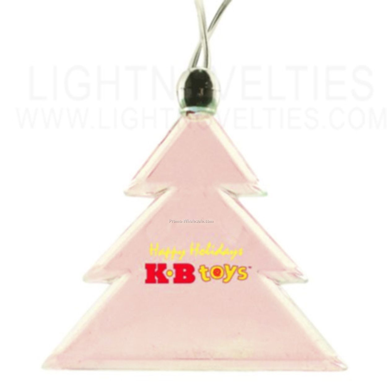 Light Up Pendant Necklace - Holiday Tree - Pink Or Purple