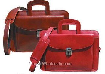 Mahogany Veg Tanned Calf Leather Mini Briefcase