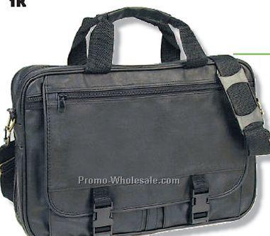 Q-tees Leatherette Expandable Briefcase