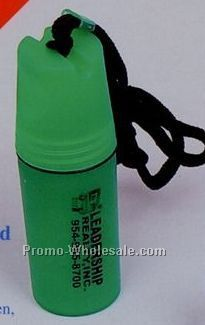 Round Waterproof Container W/ Lanyard