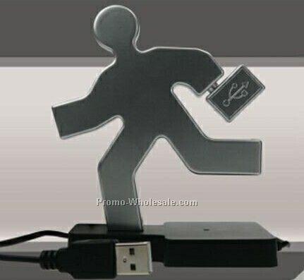 Running Man W/ Briefcase 4 Port Hub