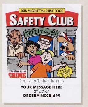 "Safety Club Stock Design Safety Theme Coloring Book (8-1/2""x11"")"
