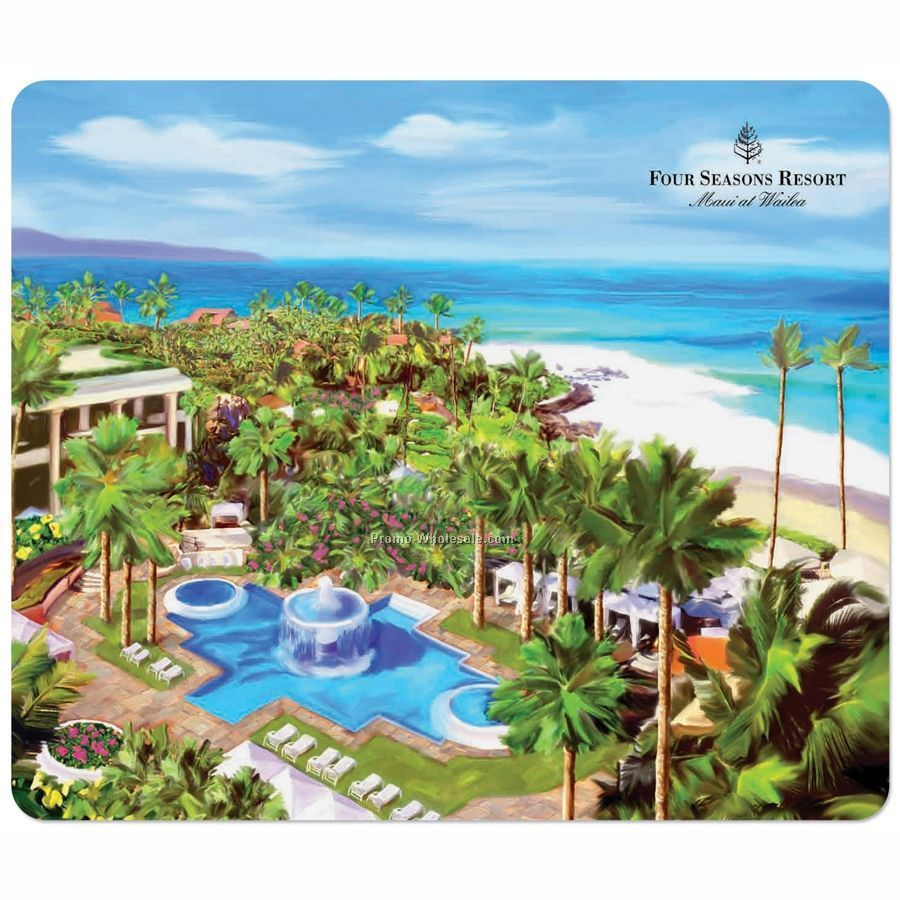 "Softtouch Plush Surface Mouse Pad With 1/4"" Heavy Duty Base (7-1/2""x8-1/2"")"