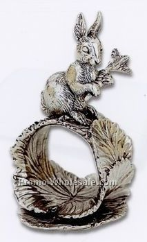 The 1824 Collection Silverplated Rabbit & Carrot Napkin Ring