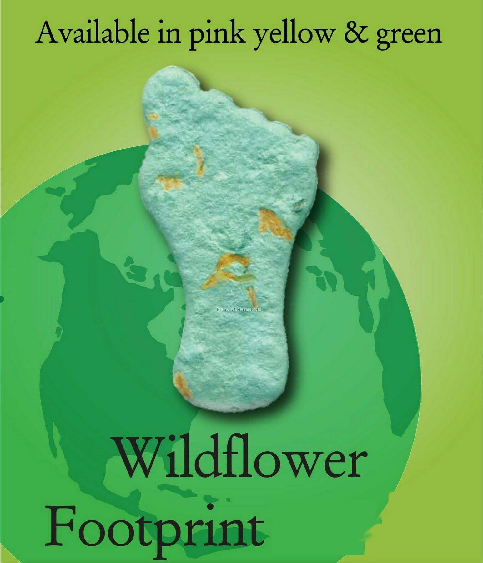 Wildflower Footprint Handmade Seed Plantable Mini