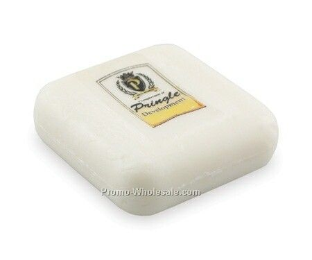 1 Oz. White Soap Bar W/ Carton