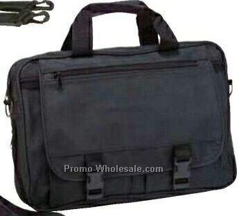 """12""""x16""""x5"""" Executive Leatherette Expandable Briefcase"""