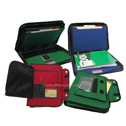 "3 Ring Binder Organizer With Zipper Closure (11""x13-3/4""x2"")"