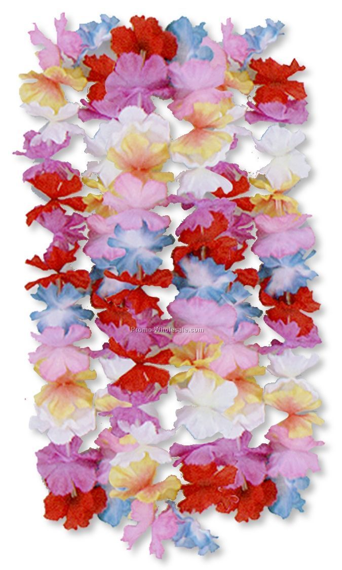 "36"" Silk 'n Petals Parti Color Leis"