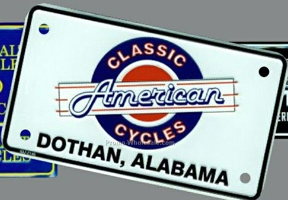 "4""x7"" Custom Motorcycle License Plate"