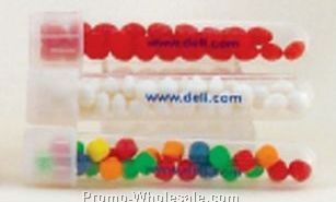 "5/8""x3-7/8"" Plastic Test Tube Filled With Red Hots"