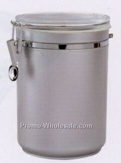 56 Oz. Matte Silver Round Airtight Canister