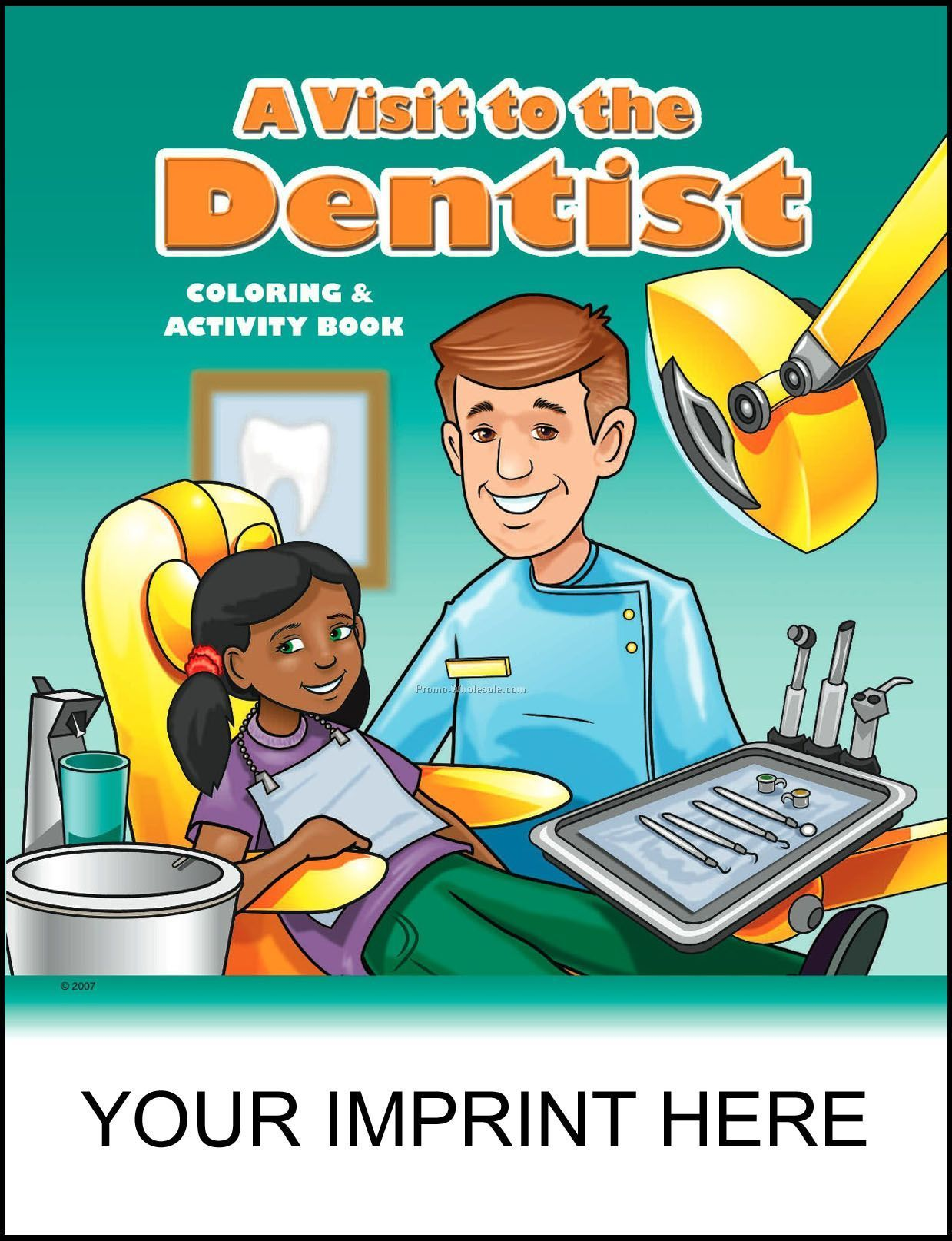 """8-3/8""""x10-7/ 8"""" A Visit To The Dentist Coloring & Activity Book"""
