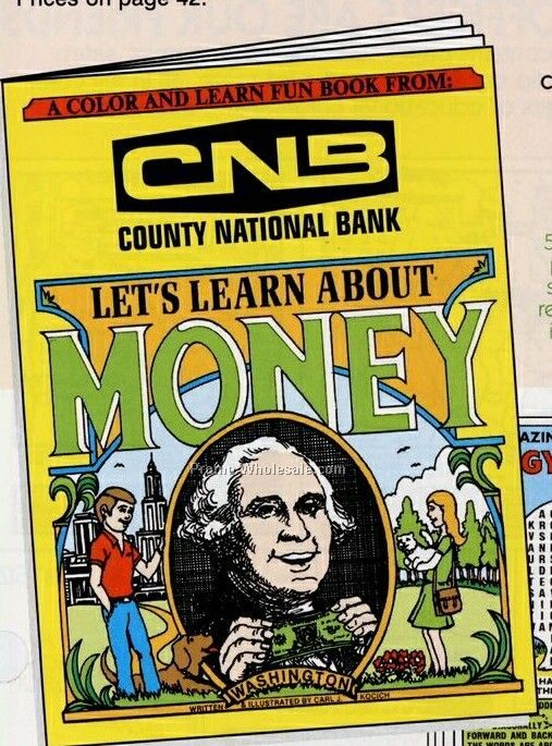 "8""x10-5/8"" 16 Page Coloring & Fun Books (Lets Learn About Money)"