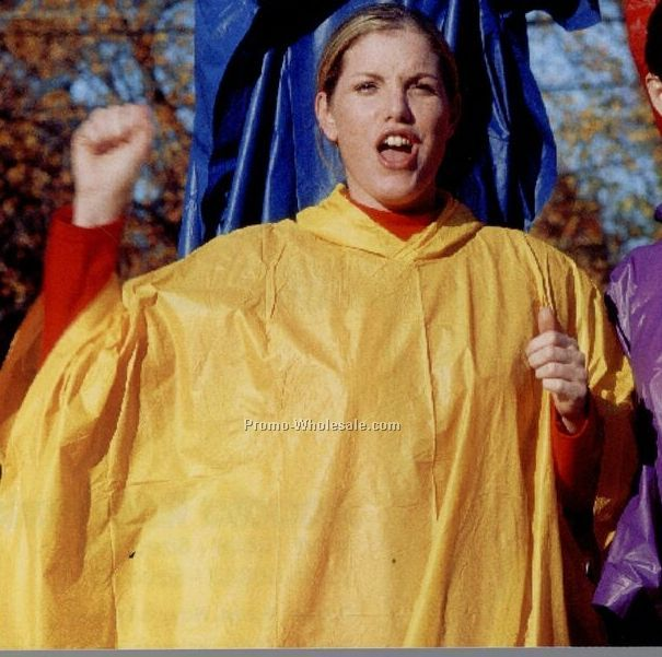 Adult Rain Poncho (One Size Fits All) Blank