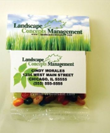 Business Card Header Filled W/ 2 Oz. Salted Mini Pretzels