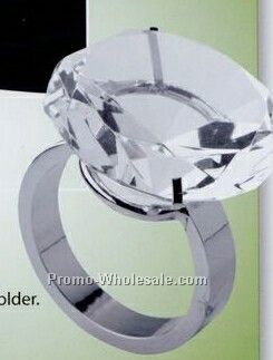 Crystal Solitaire Napkin Ring/ Paper Weight