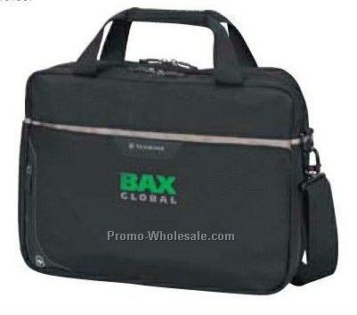 Curb Corso Slimline Laptop Briefcase (Black/ Pewter)
