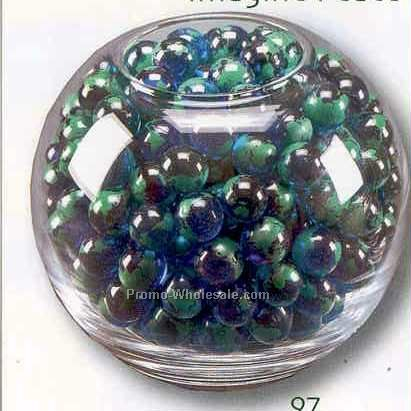 Deluxe Round Glass Bowl (Holds 200 Marbles)