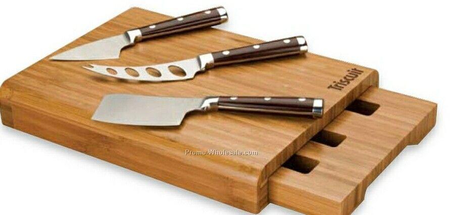 "Essentials Bambu 4 Piece Cheese Set 11""x8""x1-1/2"""
