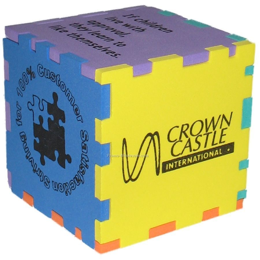"Foam Desktop Puzzle Cube 3"" (Mixed Colors)"