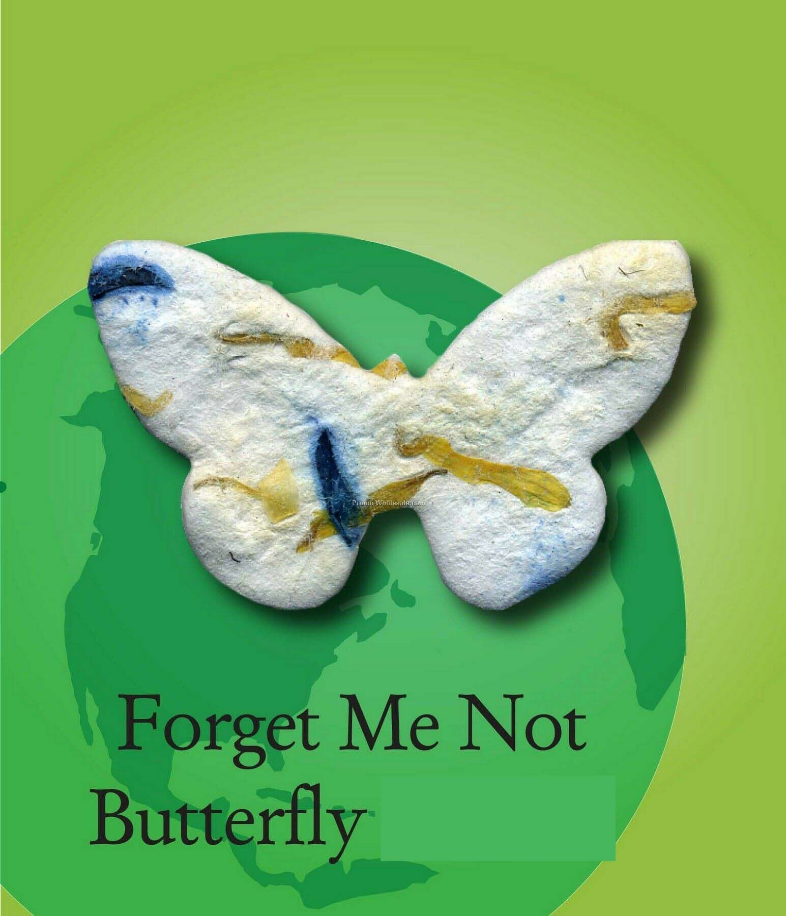 Forget Me Not Butterfly Handmade Seed Plantable Mini