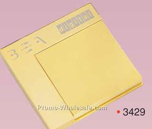 Gold Plated Brass sticky Memo Pad Holder (Engraved)