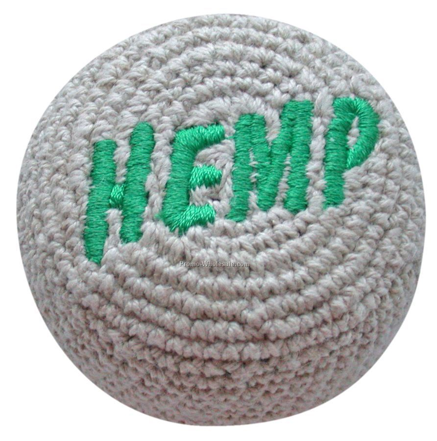 Hemp Embroidered Crocheted Footbag
